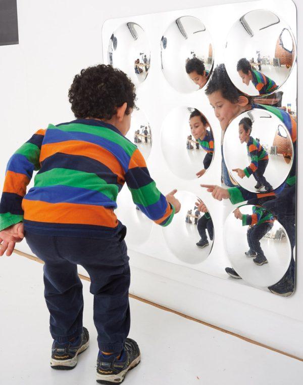 Akrylspegel konvex 9 bubblor