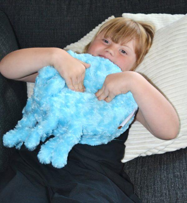Vibrerande kudde,blå