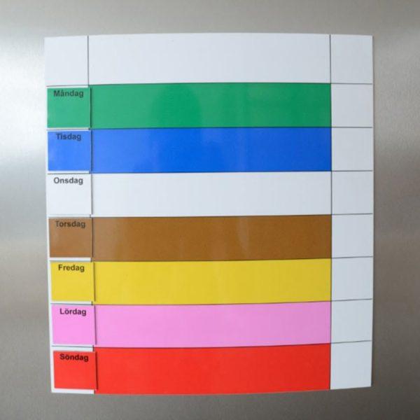 Symbolix planeringskalender magnetisk veckotavla 30x33 cm, färg
