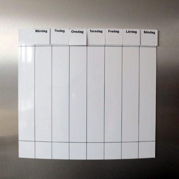 Symbolix planeringskalender magnetisk veckotavla 30x33 cm, vit