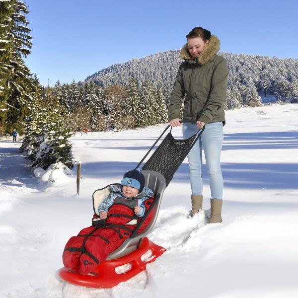 Åkpåse röd till Snow Baby Fun