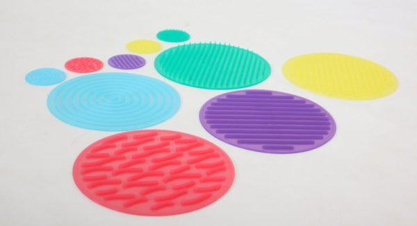 Silikoncirklar textur