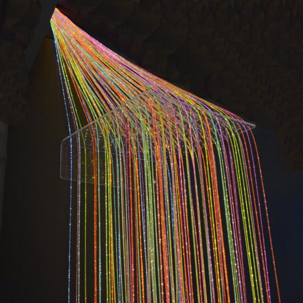Plexiväggfäste till fiberoptik, 35 x 35 cm