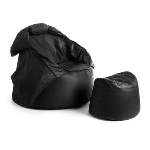 Bollfåtölj Protac Sensit® inkl fotpall Black