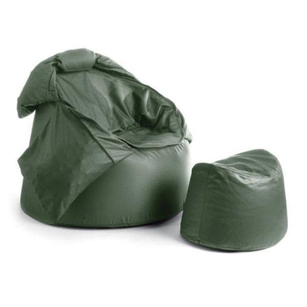 Bollfåtölj Protac Sensit® inkl fotpall Dusty Green