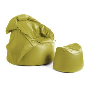 Bollfåtölj Protac SenSit® inkl fotpall Lime