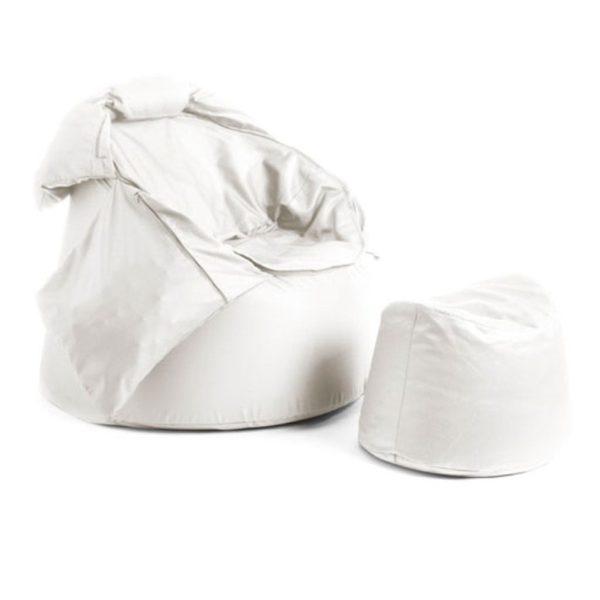 Bollfåtölj Protac Sensit® inkl fotpall Off White