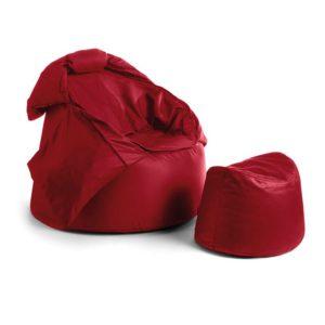 Bollfåtölj Protac Sensit® inkl fotpall Red