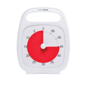Klocka Time Timer® Plus Vit 60 min