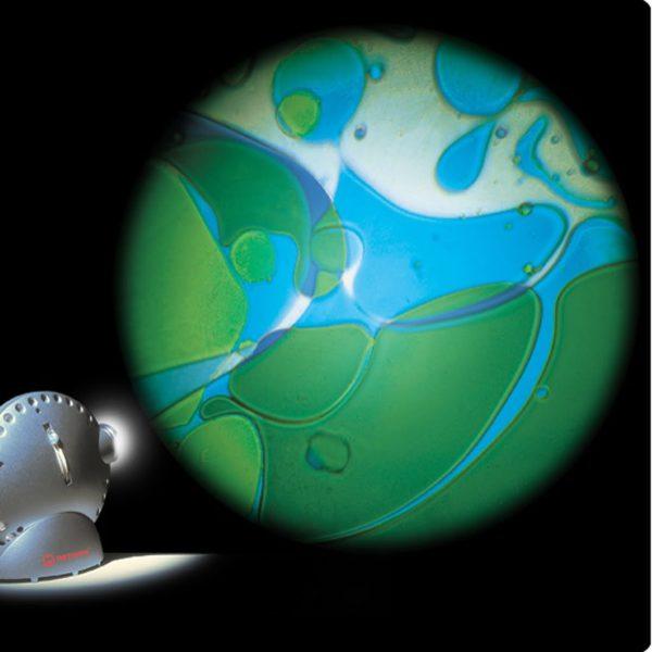 Oljehjul, blå/grön till spaceprojektor