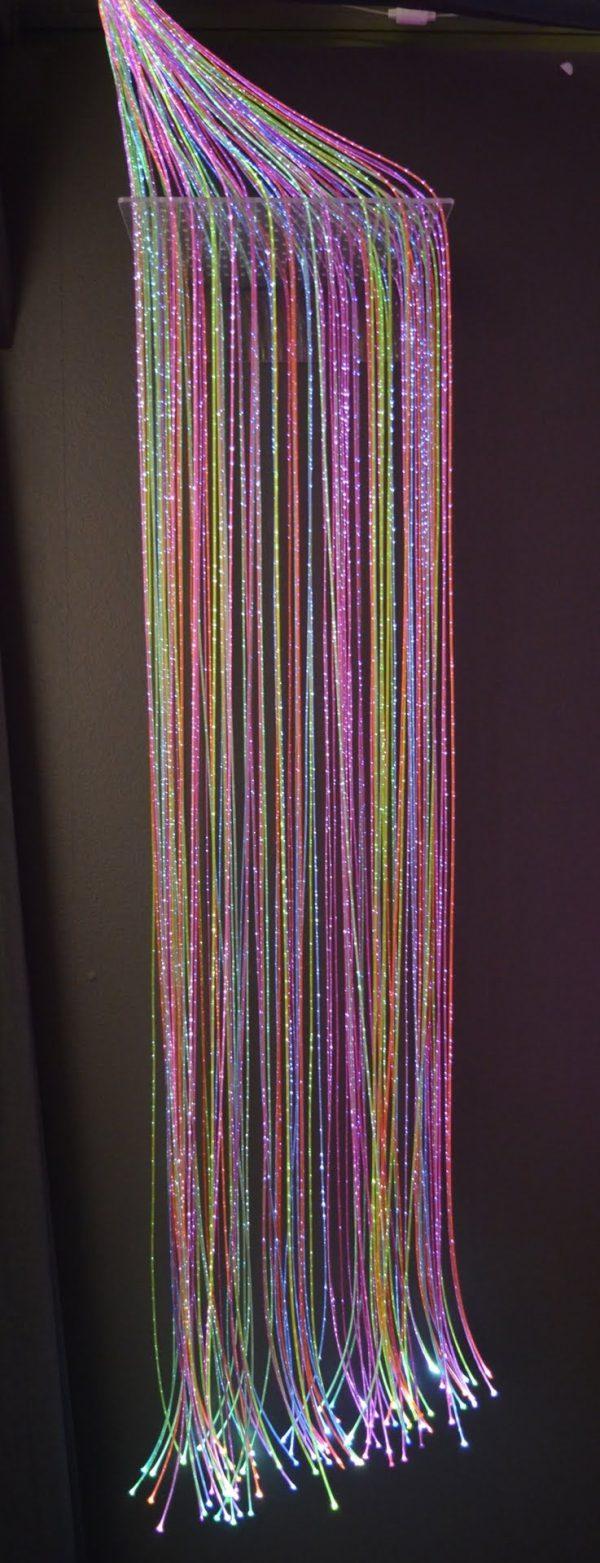 Fiberoptik Färg 100 trådar 2 m