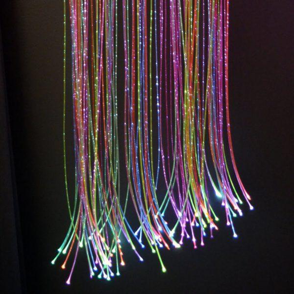 Fiberoptik Färg 200 trådar 2 m
