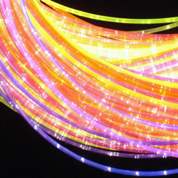Fiberoptik Färg 200 trådar 3 m