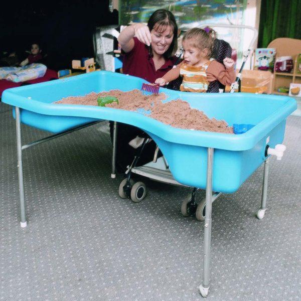 Sand- och vattenlekbord