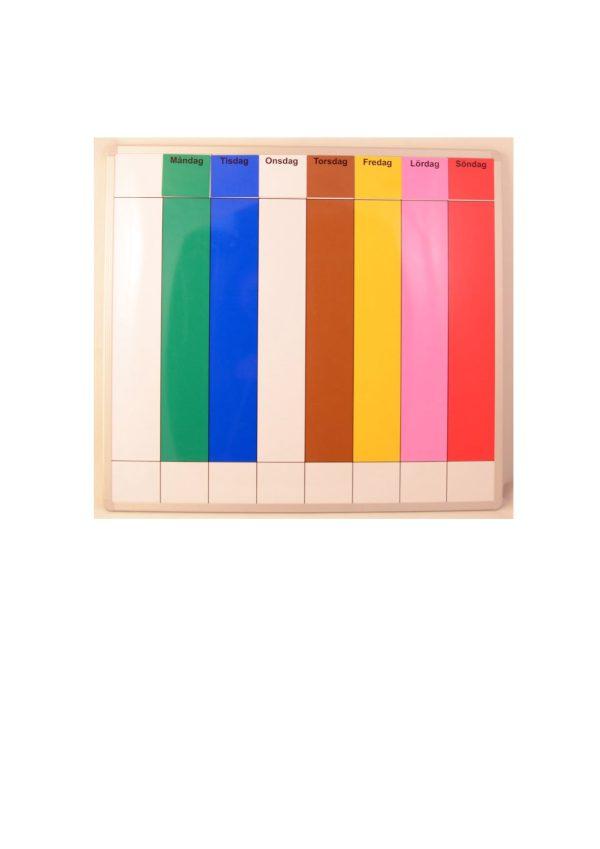 Symbolix Mini magnetkort, svart ram 4x4cm (56 st)