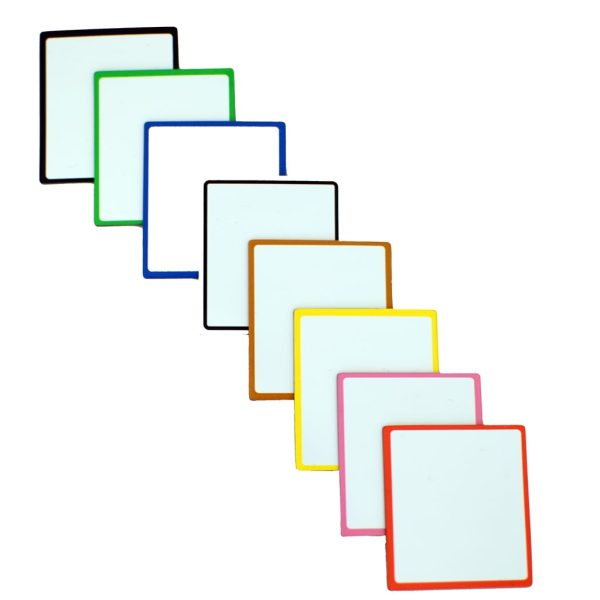 Symbolix Mini magnetkort färgad ram, 4x4cm (56 st)