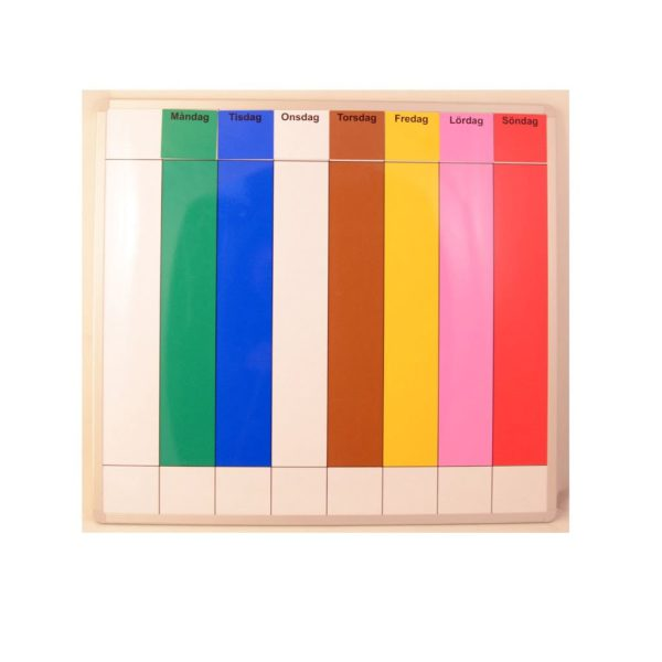 Symbolix Mini magnetkort veckodagar 3,5x3,5cm (7st), färg