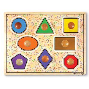 Knopp-pussel geometriska former
