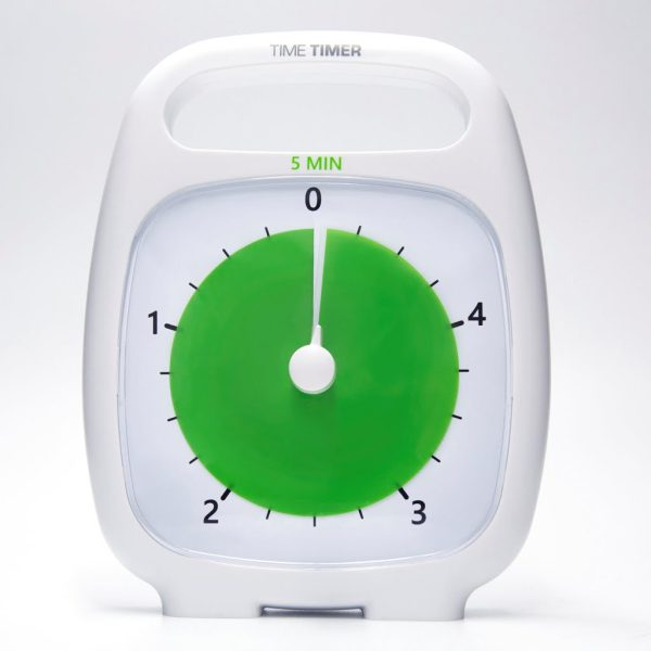 Klocka Time Timer® Plus Vit 5 min