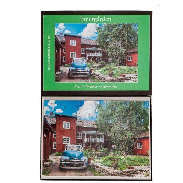 Träpussel Innergården, 30 bitar
