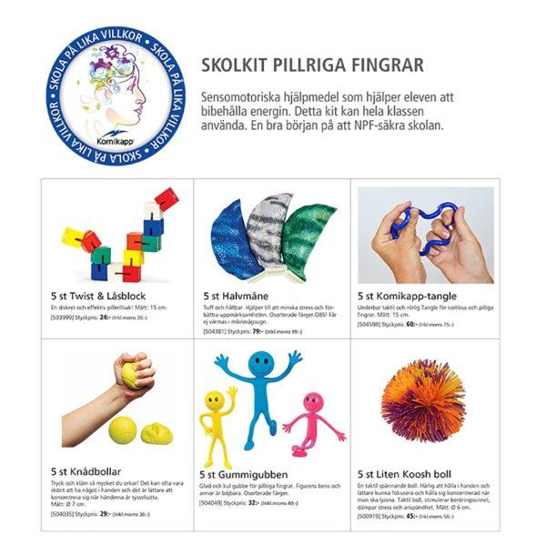 Skolkit för pillriga fingrar