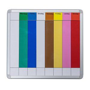 Symbolix planeringskalender veckotavla 60x67cm, färg