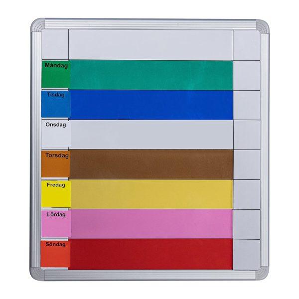 Symbolix Mini planeringskalender veckotavla 35x33cm, färg
