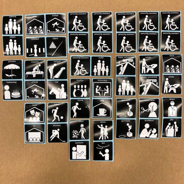 Symbolix bildstöd självhäftande symboler 48st