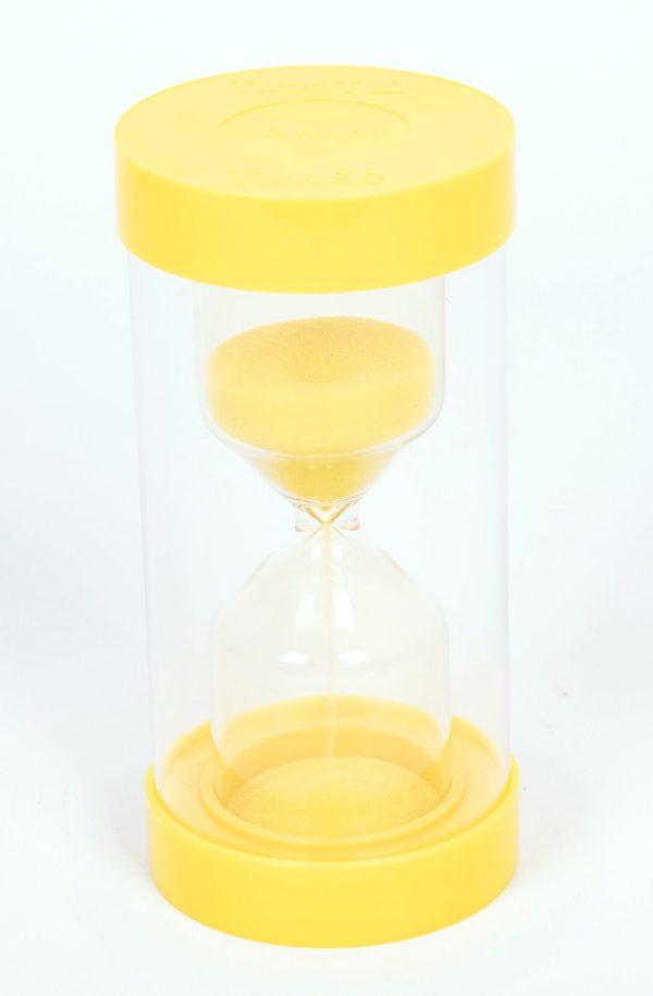 Sand-timer 16cm - 3 minuter (gul)