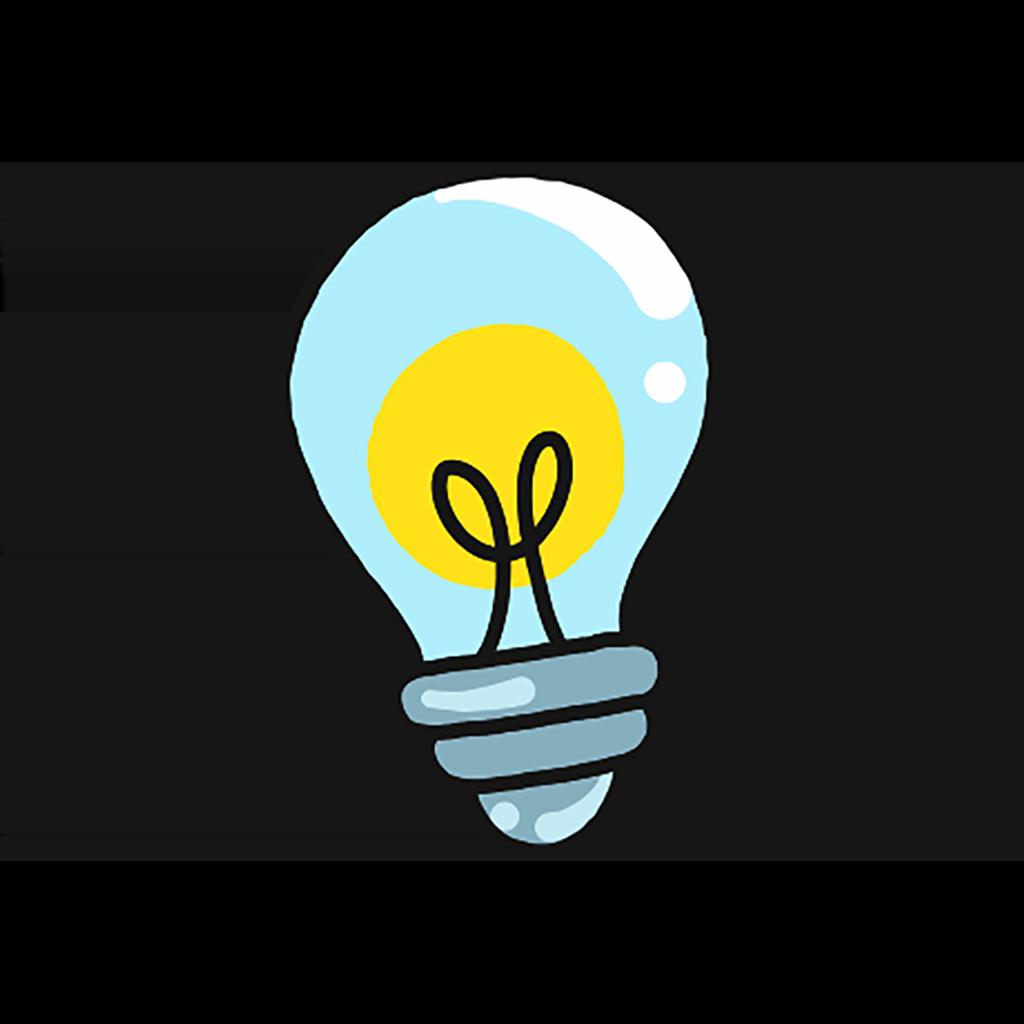 En glödlampa som lyser